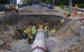 Lucasville Road Transmission Main - Large Pipe Installation
